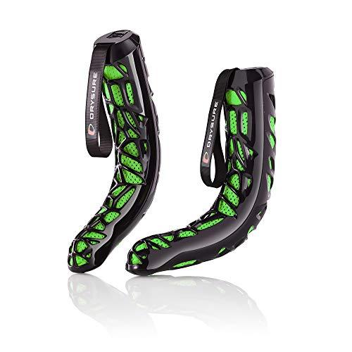 DRYSURE Extreme Schuhtrockner - Ideal für Ski, Snowboard, Motorrad und Leder Stiefel - Kein Strom oder Hitze erforderlich (Schwarz und Grün)