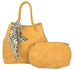 Trendz Girls Handbags combo of 2 (Yellow, 348)