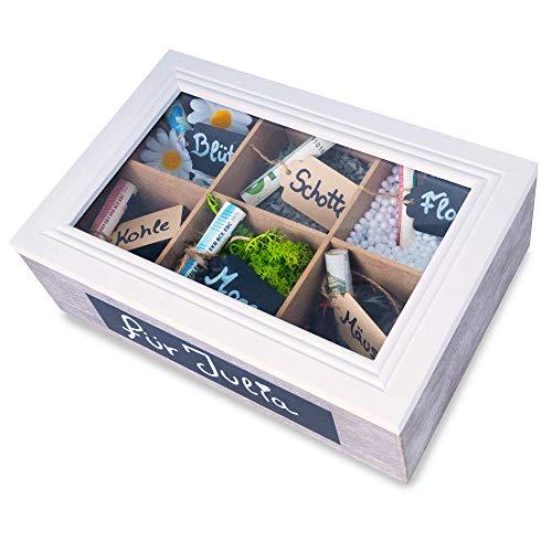 SURPRISA Schotter-Schatulle, weißer Deckel - Die kreative Verpackung für Geldgeschenke - Tolle Geschenkbox zum Geburtstag oder zur Hochzeit