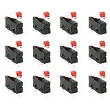WPERSUVV 12 Pezzi Mini Interruttore a Levetta SPDT Micro Interruttore 3 pin 250 V 5A SPDT 1NO 1NC