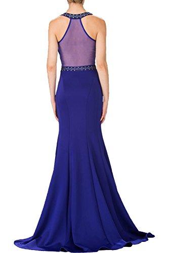 Charmant Damen Dunkel Rot Elegant Satin Abendkleider Brautmutterkleider  Meerjungfrau Partykleider festlichkleider Royal Blau
