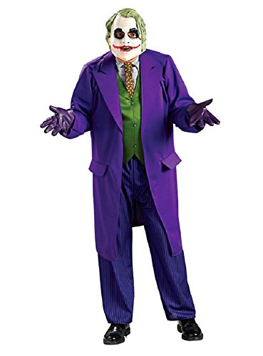 Herren Kostüm Batman The Joker Dark Knight mit Maske,Gr. XL
