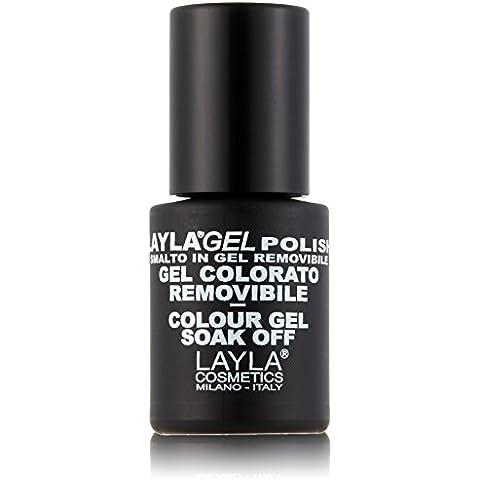 Layla Cosmetics Laylagel Polish Smalto Semipermanente per Unghie con Lampada UV, 1 Confezione da 10 ml, Pure Bronze Top Coat