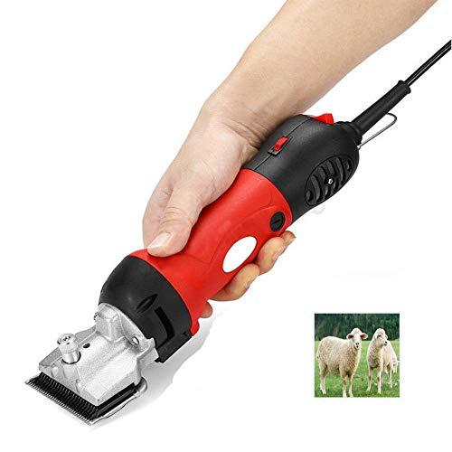Elektrische Wollschere, Schafe Ziegen Clipper, 320-500 Watt Einstellen Haustier Tierhaare Schermaschine Cutter Schere Trimmer Werkzeug 110-240 V,Red