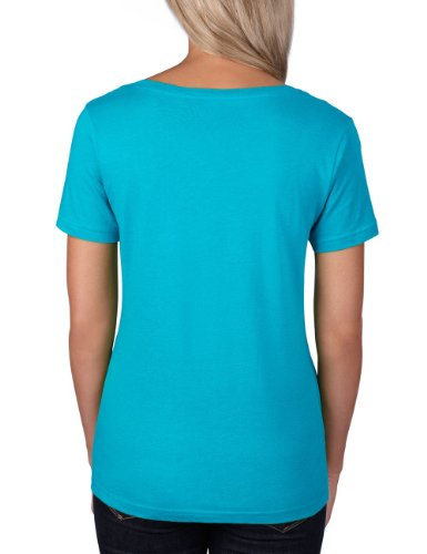 anvil Damen Lightweight Scoop Neck Tee tailliert / 391 Türkis (CBB-Caribbean Blue)