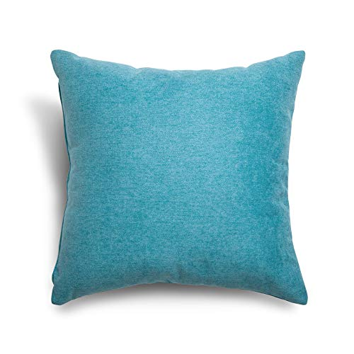 SuenosZzz- COJIN Relleno. Cojines Decoracion, Sofa,Cama, tapizado Acualine Antimanchas Azul Turquesa. Medidas:...