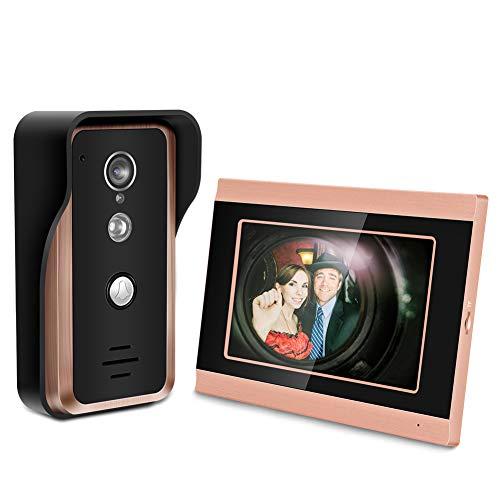 17,8cm Touch Bildschirm Verdrahtet Wifi Video Kamera Tür Phone Ring Gegensprechanlage Home Smart Klingeln, Kit Smart Sicherheit Kamera System, 1.00V -