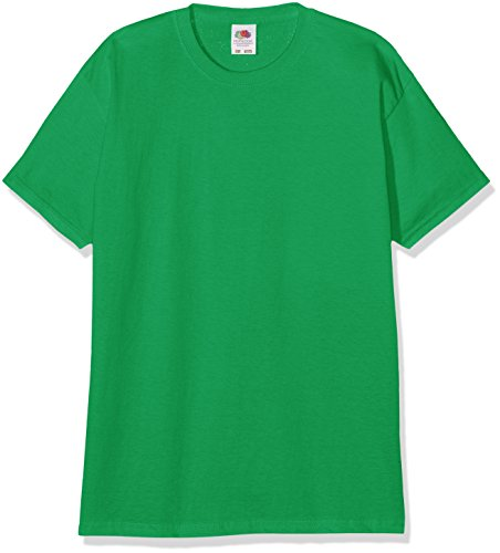 Fruit of the Loom Jungen T-Shirt Valueweight T Kids, Grün (Kelly Green 518), 140 (Herstellergröße: 140 (9-11))