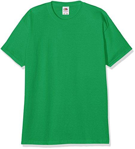 Fruit of the Loom Jungen T-Shirt Valueweight T Kids, Grün (Kelly Green 518), 140 (Herstellergröße: 140 (9-11))