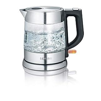 Severin-WK-3468-Glas-Wasserkocher-Schwarz-Edelstahl
