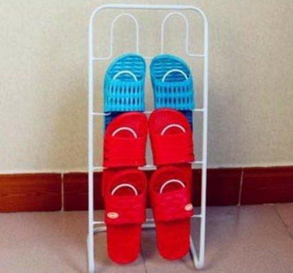 Einfache Schuhe Lagerregal/eiserne Pantoffel/Badeschuhe-A -