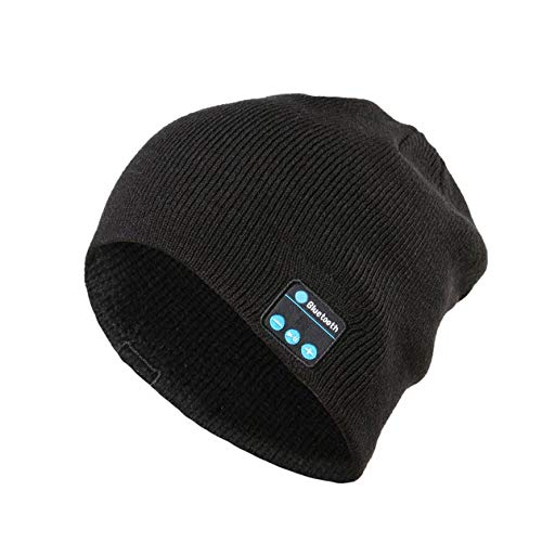 f3c9c403897a99 Heraihe Wireless Bluetooth Music Hat Universal Smart Caps Invierno Cálido  Gorros de Punto Sombrero con Altavoz