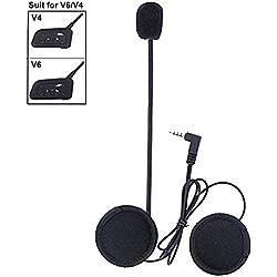 Microphone Casque Headset pour v6 Moto Casque Bluetooth Interphone Interphone