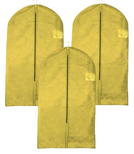 3 Stück Kleidersack atmungsaktiv Sichtfenster Reißverschluß Anzüge Hemden Kostüme für Reisen sehr leicht mottensicher - der natürliche Motenschutz (Reise Kostüme)