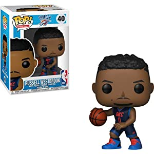 Funko Pop Russell Westbrook Oklahoma City Thunder camiseta azul oscura (NBA 40) Funko Pop NBA
