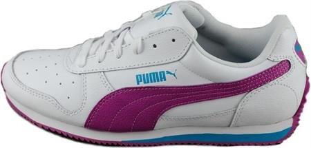 Puma Sneaker Fieldsprint L Jr Blanc/Violet EU 37.5
