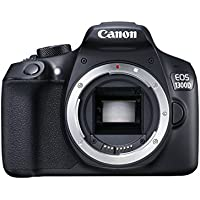 """Canon EOS 1300D - Cámara réflex de 18 Mp (pantalla de 3"""", Full HD, NFC, WiFi), color negro (versión importada)"""