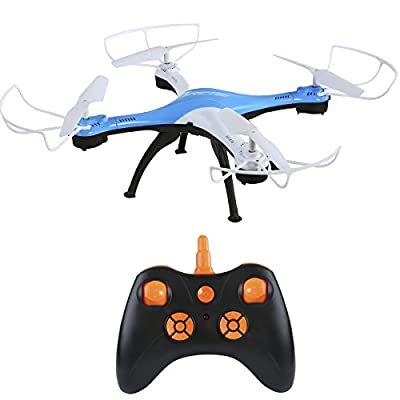 Luxon RC Outdoor Drones with 4CH 2.4G 6-Axis Gyro Headless Mode Quadcopters LED Flashlight for Beginners