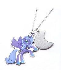 My Little Pony–Acero inoxidable doble collar con colgante