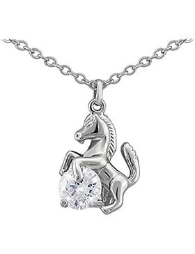 Hanessa Damen-Schmuck Edle Hals-Kette vergoldet Pferd Bronze / Silber / Gold farben für Pferde begeisterte Mädchen...