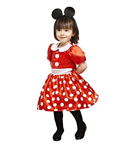 Kleinkind Minnie Kostüm Mouse - amscan x-DCMIN-DRRG18 Micky Maus und Freunde Kinderkostüm Minnie Rot, 86-92 cm