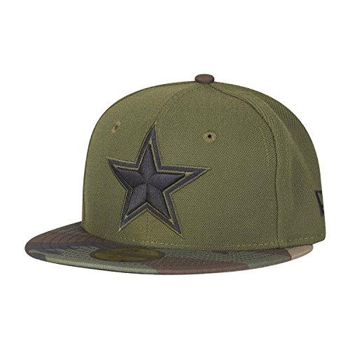 New Era 59Fifty Kids Cap - Dallas Cowboys Oliv/Wood camo - (Camouflage Cowboy Mütze)