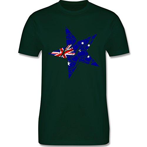 Länder - Australien Stern - Herren Premium T-Shirt Dunkelgrün