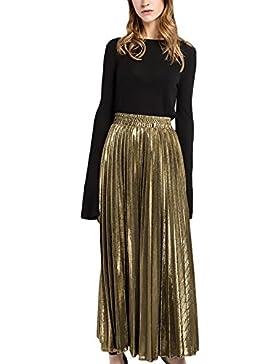 Faldas Mujer Faldas Largas Fiesta Plisadas Cintura Alta Elegantes Vintage Hippies Casual Falda Larga Falda Plisada...