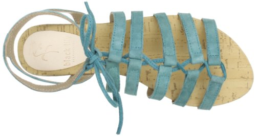 Black Lily Cosmos Sandal, Spartiates femme Turquoise (Turquoise)