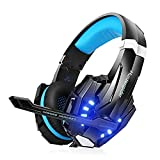 RsvpD Gaming Kopfhörer, Coole Serie Gaming Headset mit Mikrofon 3,5 mm 3D Surround On Ear, Verstellbare Lautstärkeregelung Kopfhörer für PC, PS4, Xbox