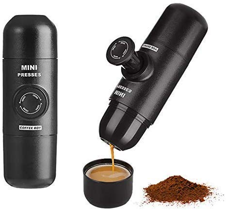 KaiKai Kaffee-Maschine, Hand Kaffeemaschine Handdruck Tragbarer Kapseln Kaffeemaschine for Nespresso-Kapseln Mini-Kaffeemaschine -