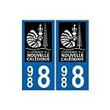 988 nouvelle calédonie autocollant plaque logo 3 - Angles : droits