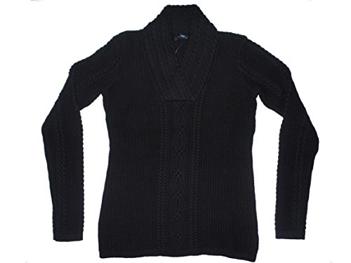 Womens Cable Knit Pullover Pullover (XX-Large, Schwarz) (Schwarzes V-neck Cable Knit)