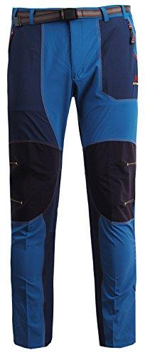 Zipravs Herren Damen Trekkinghose Hiking Pants Lightweight Wanderhose Trousers (Von Muster Ausarbeitung Hose)