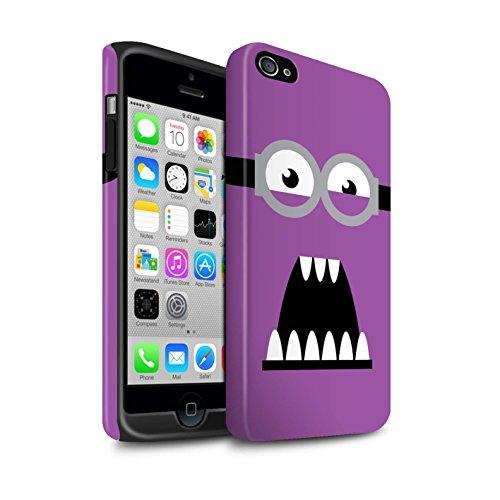 STUFF4 Matte Harten Stoßfest Hülle / Case für Apple iPhone 4/4S / Böse/Wütend Muster / Süßer Minion Inspiriert Kollektion (Despicable Me Iphone 4 Fall)