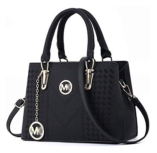 Alidear leer nieuwe stijl Dames handtassen, Hobo-Bags, schoudertassen, zak, buidelzakken, Trend-Bags, velours, veloursleder, poolwitte microsuède, tas -  zwart -