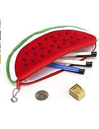 großes Fassungsvermögen Buntes Sommer-Frucht-Stil-Federmäppchen Stifte Beutel Kosmetik Schreibwaren für Schule mit strapazierfähigem Doppelreißverschluss Büro