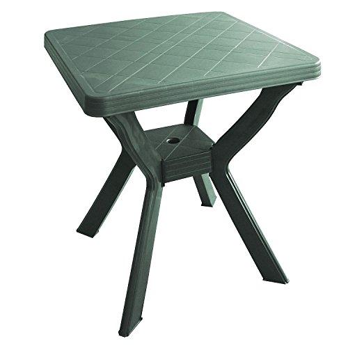 Mojawo Bistrotisch Kunststoff 70x70cm Reno Grün Eckig Balkontisch Gartentisch Terassentisch