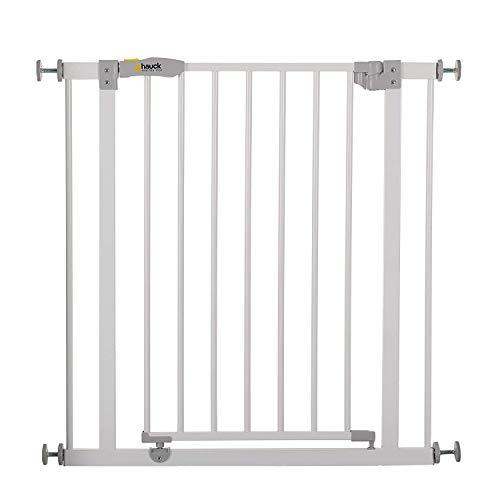Hauck Open N Stop Barrière de Sécurité / Portes d'escalier, Combinable avec Y-broches, Métal, Pivotant des deux Côtés, 75-80 pas d'extension, Blanc