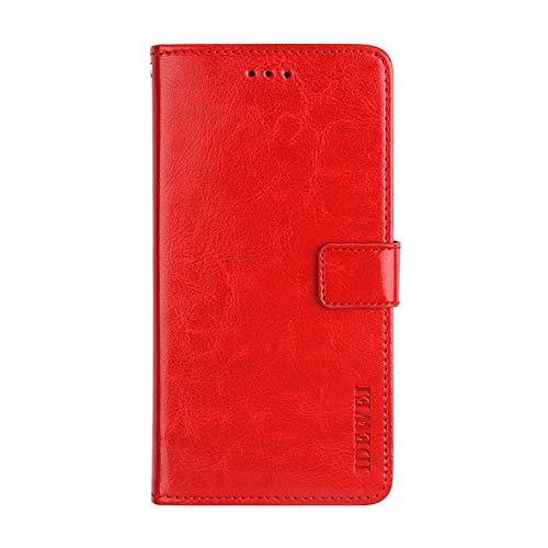Case for Lenovo Z6 Lite, Leather Wallet Holster Bag Function Bracket PU Material Soft Phone Case Cover for Lenovo Z6 Lite (Red)