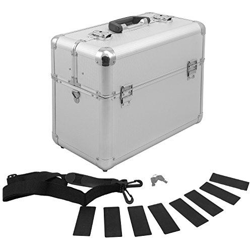 Alurahmenkoffer Werkzeugkoffer Etagenkoffer VARO + Fachbodeneinsätze abschließbar silber