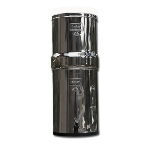 BERKEY RB4X4-BB ROYAL STAINLESS STEEL WATER FILTRATION SYSTEM WITH 4 BLACK FILTER ELEMENTS BY BERKEY