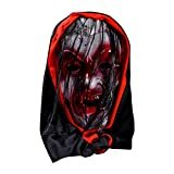Factorys Halloween Saw Mask, Horror Red Spot Maschera in PVC per Bar Performance Night Show Tema Cosplay Party