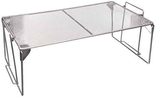 Zeller 17756 scaffale universale, impilabile, metallo, argento, 43.5x25.5x15.5 cm