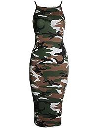 Fast Fashion - Robe Plaine Strappy Viscose Bodycon Longue De Midi - Femmes
