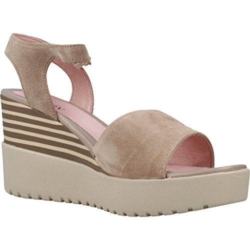 Stonefly Damen Ely 5 Velour Plateaupumps Beige (Taupe Brown 075)