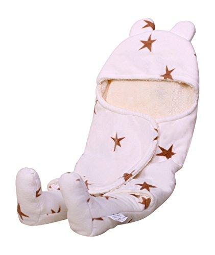 ambrosya® | muy–Body para bebés de forro polar, Baby manta de bebé baby Pelele cama edredón erstling Colcha Estaciones Niños–Manta Cojín Pelele blanco Weiß