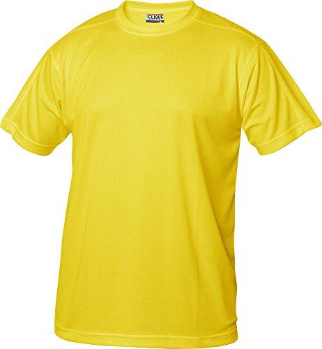 Herren Funktions T-Shirt aus Polyester von CLIQUE. Das T-Shirt für den Sport, perforiert und feuchtigkeitsabführend in 10 Farben S M L XL XXL XXXL XXXXL Gelb