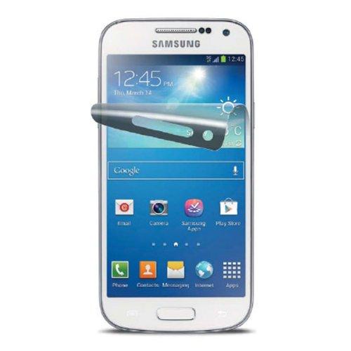 Cellular Line Displayschutzfolie für Samsung Galaxy S IV Mini inkl. Applikator und Mikrofasertuch ( 2-er Stück) transparent