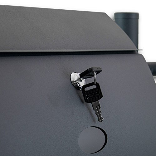 BITUXX® Freistehender Doppelstandbriefkasten Briefkastenanlage Briefkasten mit Zeitungsrolle Halbrund Dunkelgrau Anthrazit - 5